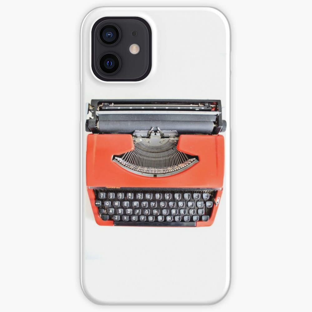 Red Typewriter iPhone Case & Cover