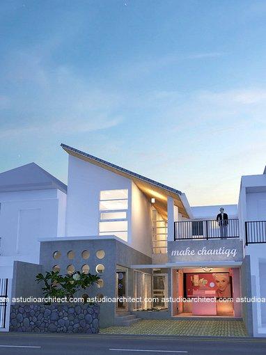 Desain rumah dengan toko didepan