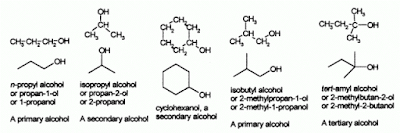 Alcohol examples.