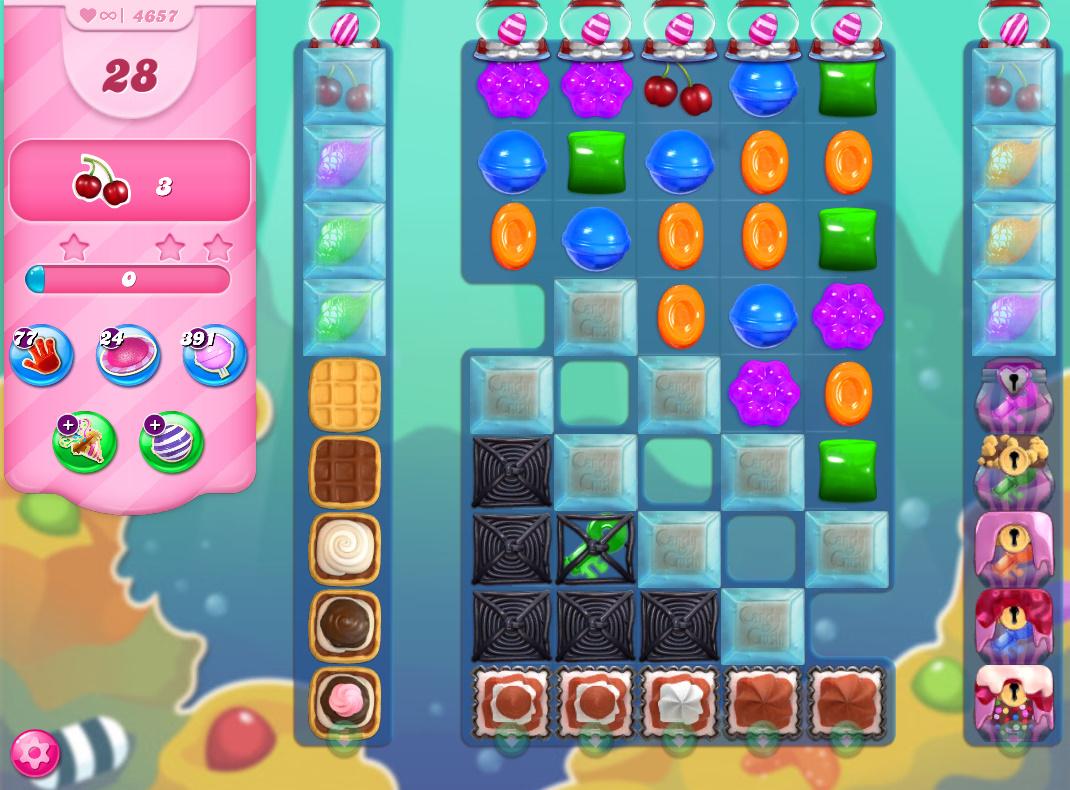 Candy Crush Saga level 4657