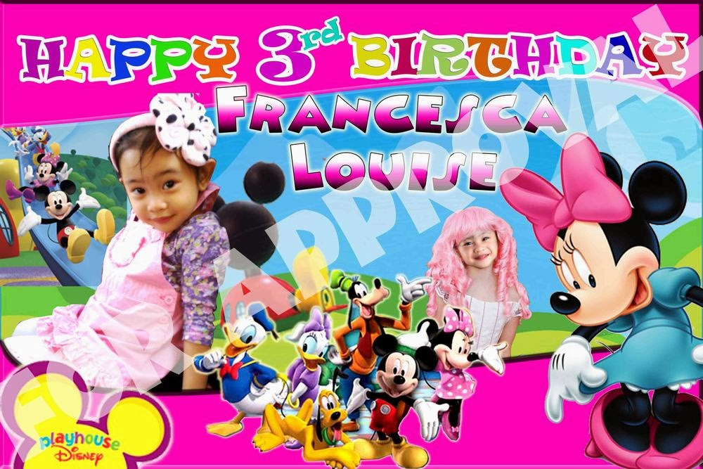 TARPAULIN / BANNER SAMPLES: MICKEY AND MINNIE | Haileigh's Souvenir ...