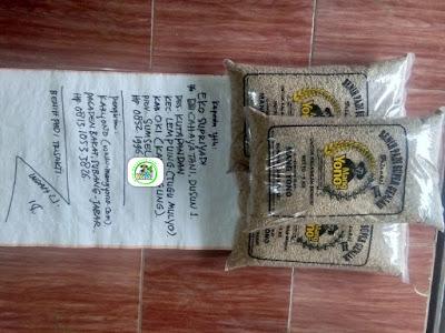Benih padi yang dibeli EKO SUPRIYADI OKI, Sumsel. (Sebelum packing karung ).