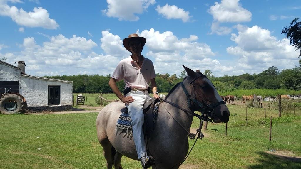 Paardrijden op de pampa in Argentinië