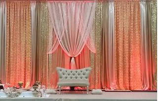 Curtain / drapes wedding decor