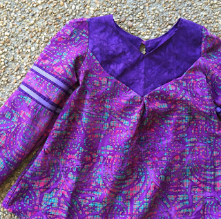 striped swallow designs, whigs & tories, gypsy, tunic, purple, batik, bohemian,