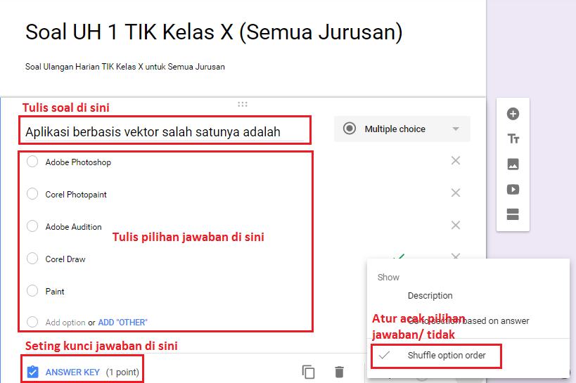 """Aplikasi Google """"Membuat Soal Online dengan Google Form ..."""