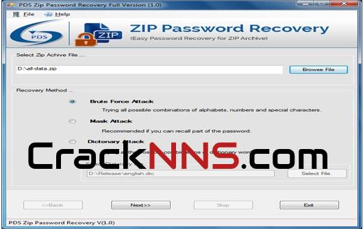 ZIP Password Recover Free Download Cracknns.com