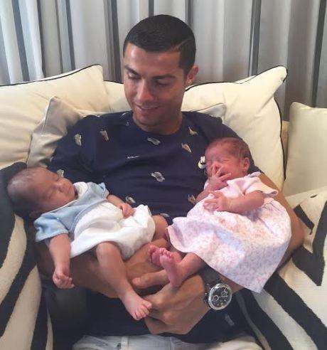 Cristiano Ronaldo shares first photo of the twins he welcomed via a surrogate