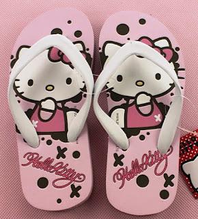 Gambar Sandal Jepit Lucu Karakter Hello Kitty