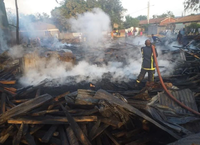 Kondele timber yard on fire photos