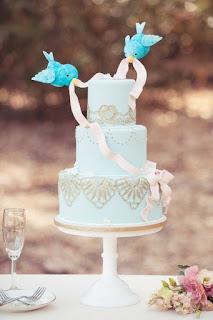Sweet and Beautiful Birds Wedding Cake Topper