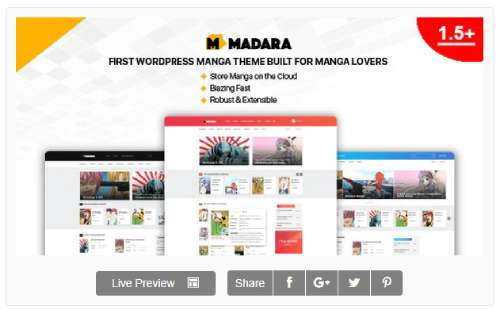 Download Madara WordPress Theme Comic for Manga