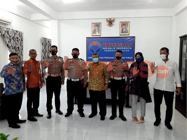 Awal Tahun 2021 Dirlantas Polda Aceh Sambangi Ombudsman
