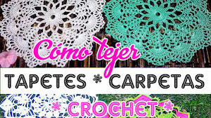 Cómo Tejer un Tapete o Carpeta Crochet Fácil / Tutorial