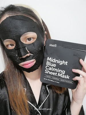 Review; Klairs Midnight Blue Calming Sheet Mask