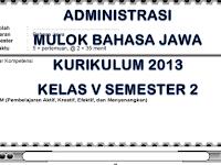 Administrasi K13 Lengkap Mulok Bahasa Jawa Kelas 5 SD/MI