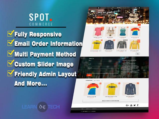 SpotCommerce v1.5.0 – Responsive Amazon Affiliate Blogger Template Free