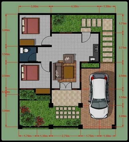 Sketsa Rumah Minimalis Modern Type 36 1