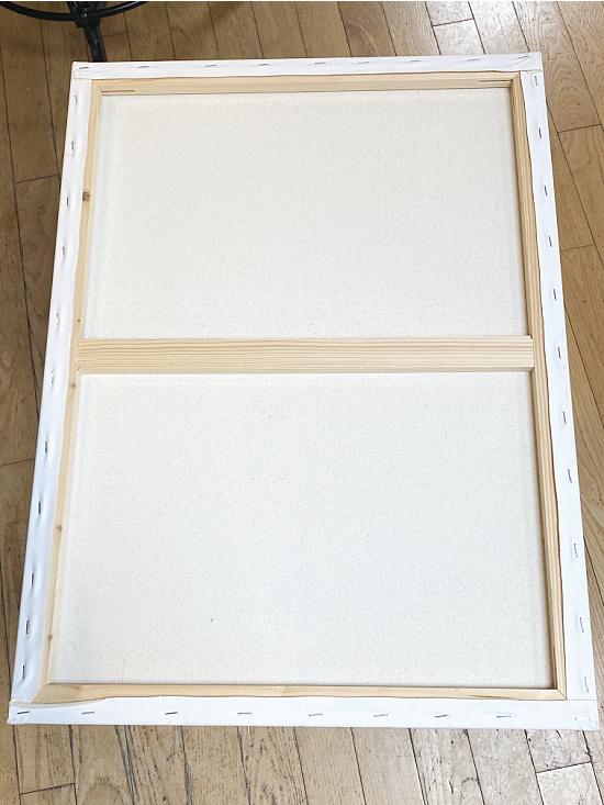 art canvas with a center brace