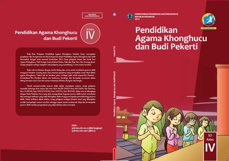 Download Gratis Buku Siswa Pendidikan Agama Khonghucu dan Budi Pekerti Kelas 4 SD Kurikulum 2013 Format PDF