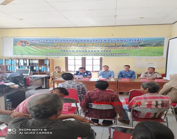 ATR - BPN Pulpis Sosialisasikan Sertipikat Program PTSL di Kelawa