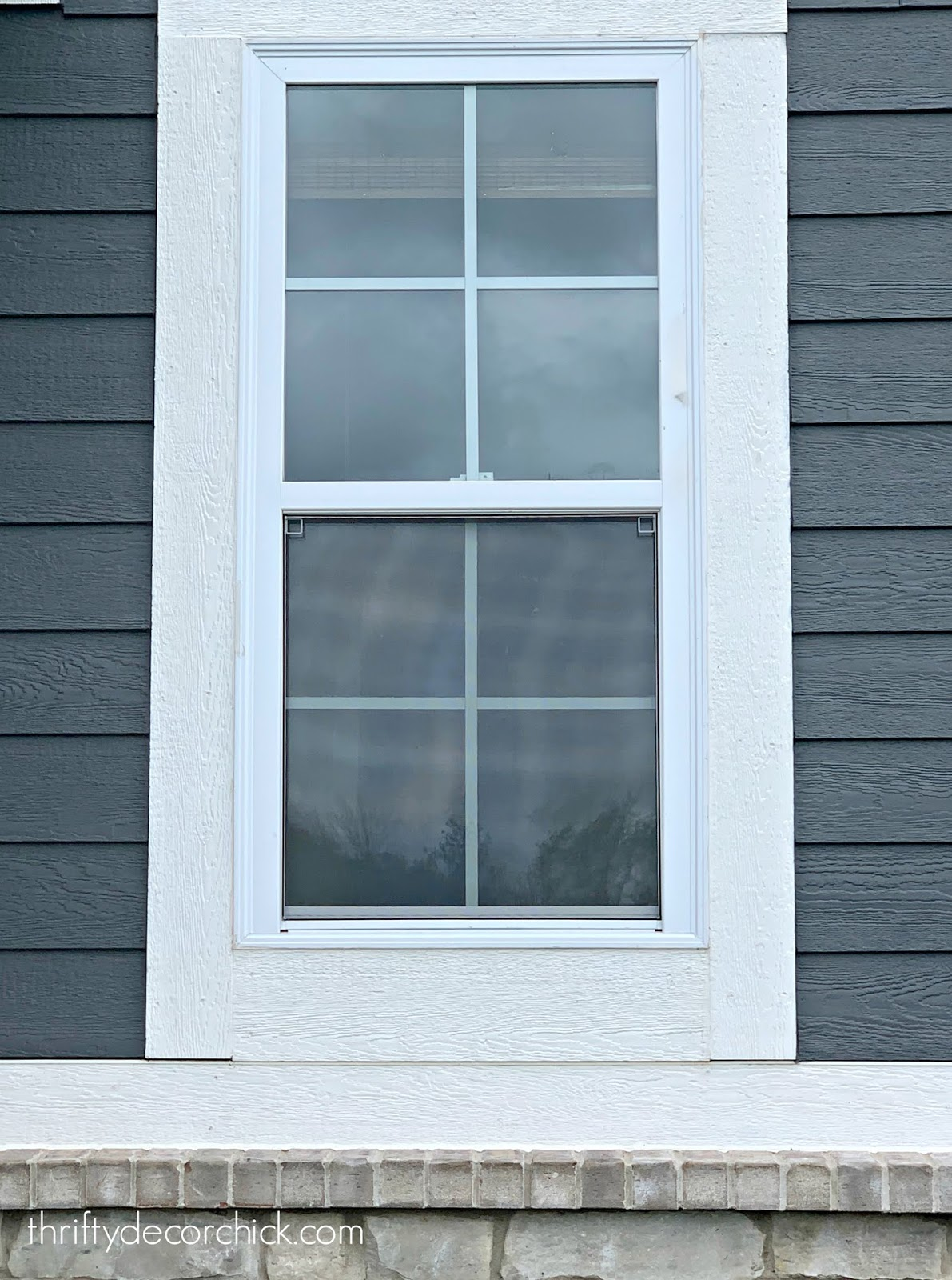 How to make a bathroom window private for cheap