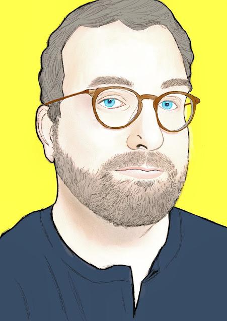 Illustrated portrait of Mr. K