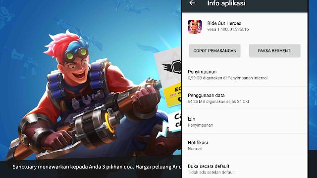 Kira-kira Berapa Total Size Game Ride Out Heroes Di Android