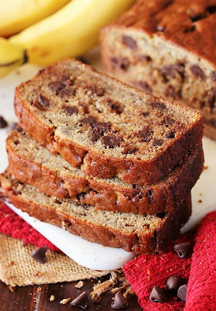 Slices of Chocolate Chip Banana Bread Image
