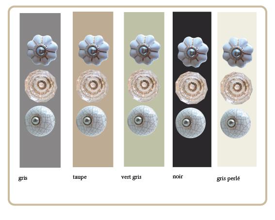 bouton de meuble verre, bouton de titoir craquelé, boutons citrouilles