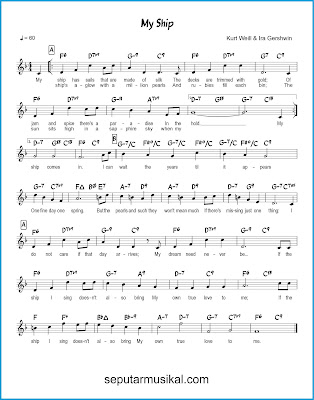 My Ship chords jazz standar