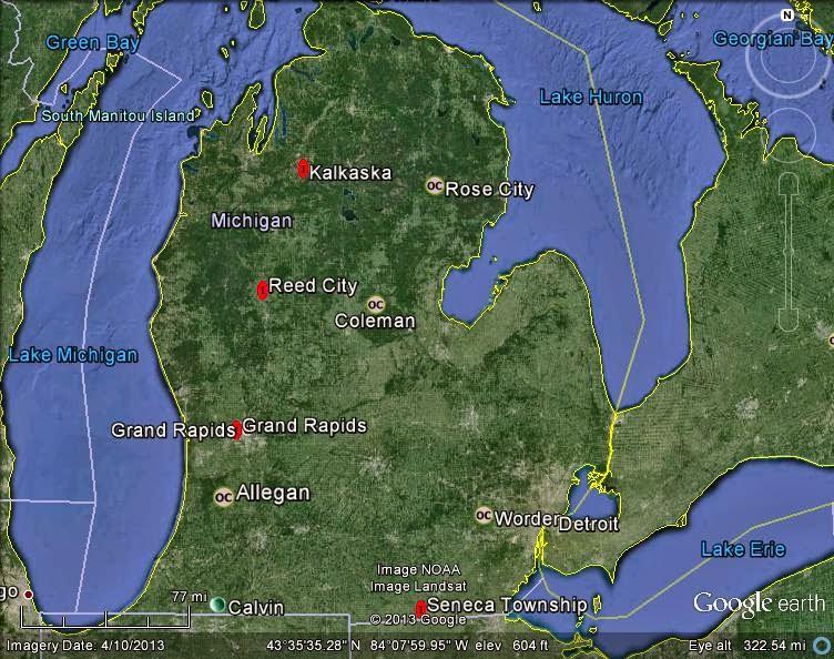 Meteorite Maps and Impact Craters - Worldwide: Michigan ... on google maps street view world, google maps street view location, google maps france, google maps update 2013, google maps 2014,