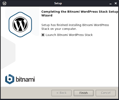 Wordpress installation on Linux is complete