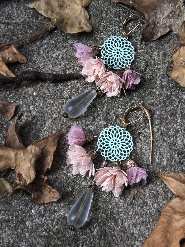"DIY oorbellen/earrings - ""Bonbon"""