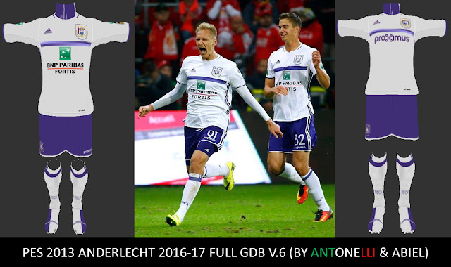 PES 2013 Anderlecht 2016-17 Full GDB V.6 Final (BY ANTONELLI & ABIEL)