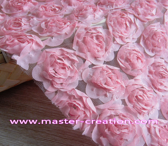 pink rose wedding dress fabric.