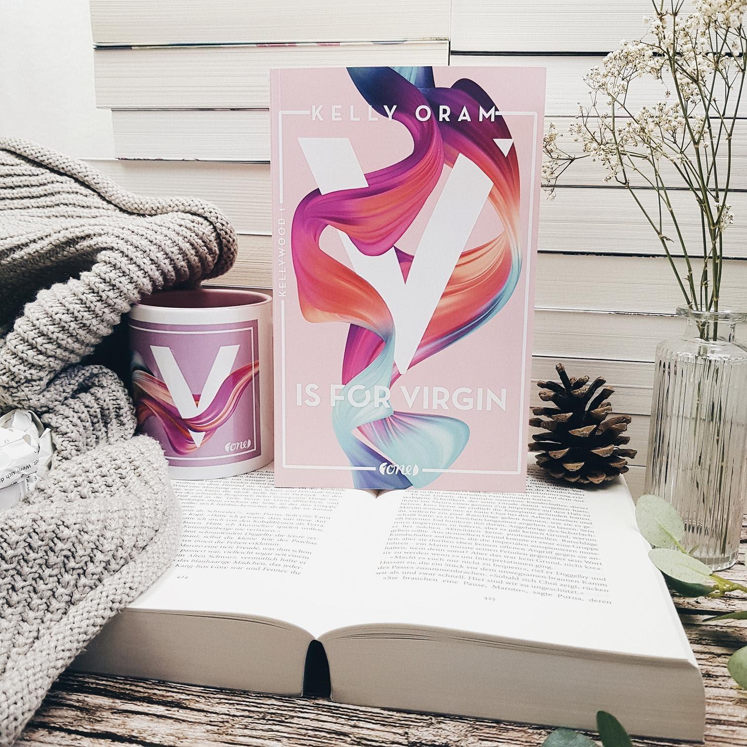 Bücherblog. Rezension. Buchcover. V is for Virgin (Band 1) von Kelly Oram. Jugendbuch. one. prettytigerbuch.