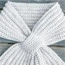 Bufanda Cruzada a Crochet