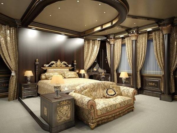 ديكورات جبس غرف نوم فخمه للعرسان