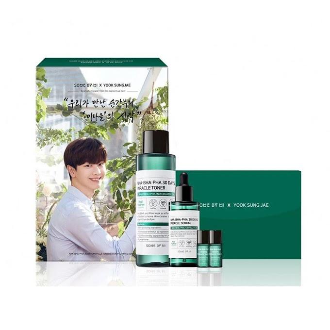 Varian produk SOME BY MI AHA BHA PHA 30 Days Miracle lengkap untuk kulit berminyak dan berjerawat