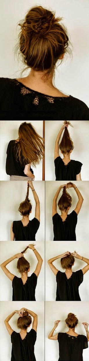 Messy Bun Hairstyles For Long Hair Step By Step |Beautiful ...