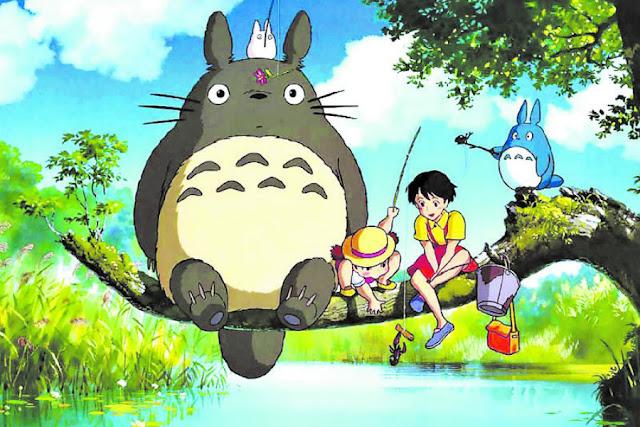 Imagen de la película de animación japonesa de Studio Ghibli Mi vecino Totoro