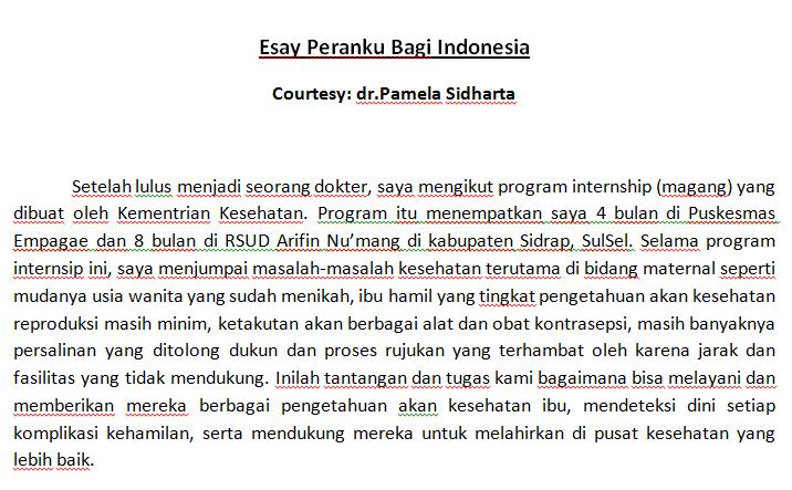 cara membuat essay peranku untuk indonesia