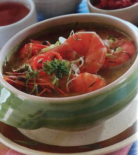 Gambar Resep Sup Udang Kuah Kaldu