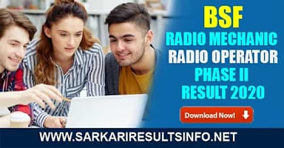 BSF Radio Mechanic, Operator Phase II: BSF has recently Published the Phase II Result for the Radio Operator - RO and Radio Mechanic