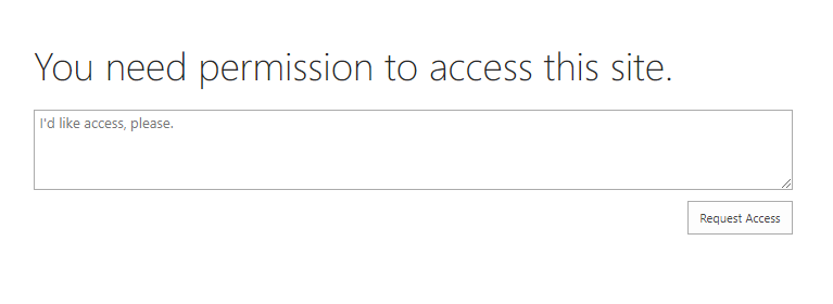 sharepoint online enable access request