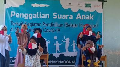 Sambut HAN 2020 SMK Islam Tinggar Bersama Lakpesdam NU Lotim, Gelar Kegiatan Bersama Anak