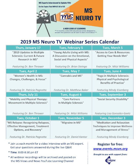 Tv Series Calendar February March 2019 MS Views and News:: 2019 MS Neuro TV Webinar Series Calendar