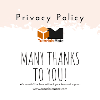 Privacy Policy - TutorialsMate