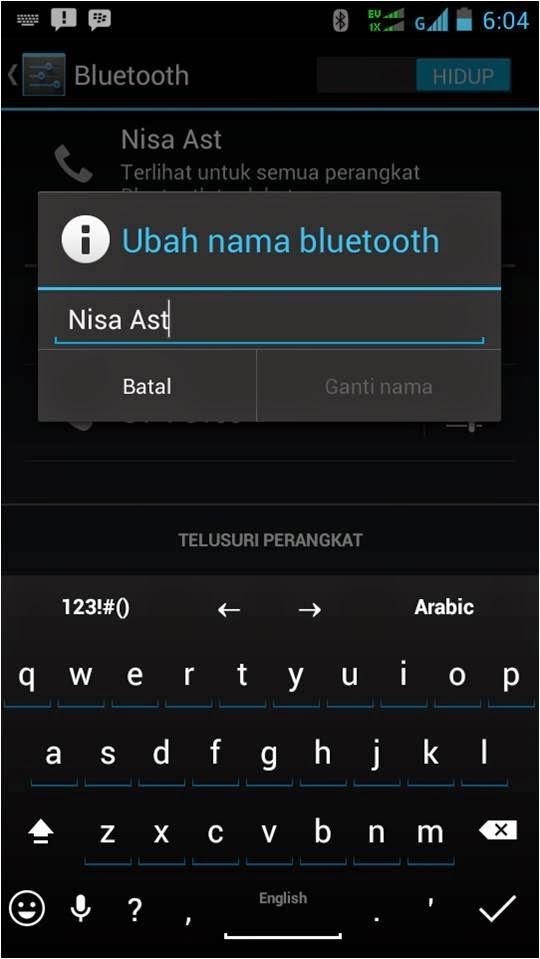 Cara Mengganti Nama Bluetooth Andromax Smartfren 4